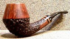 "BECKER Pipes - ""G"" Size, Partially Rusticated Rhodesian - Smoking Estate Pipe"