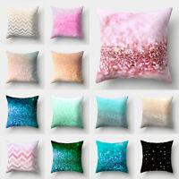 Colours Polyester Throw Pillow Case Waist Sofa Home Decor Cushion Cover 18inch