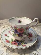 BEAUTIFUL  QUEENS PORCELAIN TEA CUP AND SAUCER SPECIAL FLOWERS ANEMONE
