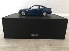 Bmw M3 coupe bleu miniature 1/43 - PROMO