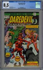 Daredevil #123 CGC 8.5 VF+ Wp Marvel Comics 1975 Nick Fury & Black Widow App