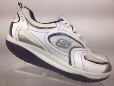 Skechers Shape-Ups Women's Walking Shoes Size 8 White Purple