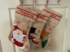 Personalised Hessian  Xmas Stocking Hessian Christmas