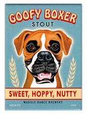 Retro Dogs Refrigerator Magnets - Goofy Boxer Stout - Vintage Advertising Art