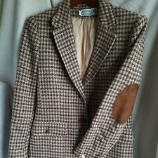 Vintage The Villager houndstooth wool blazer jacket size 12