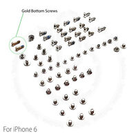 "Complete Screw Set Replacement for iPhone 6 4.7"" With 2 Gold Bottom Screws"