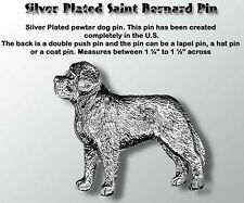 Pewter Lapel Dog Pin Saint Bernard