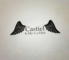 Supernatural Castiel Is My Co-Pilot Vinyl Die Cut Car Laptop Decal Sticker Wings