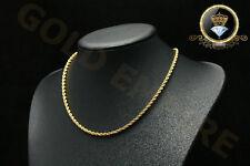 Damen/Herren Halskette Kordelkette Dubai echt 750 Gold 18 Karat  vergoldet 1178