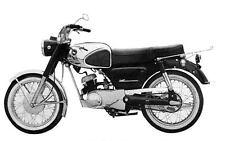 1965 Kawasaki 125 B8T Motorcycle Factory Photo Japan J2917