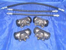 4 Wheel Cylinders & Brake Hoses 1958 58 Lincoln NEW