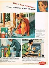 PUBLICITE   1968   RECKITT  produits ménagers