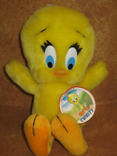 """Tweety Bird Six Flags Stuffed Plush 9.5"""" Has Tags Mint Looney Tunes Collectible"""