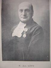 Portrait Phototypie  Alfred LEVY Lévy Né à Lunéville Rabbin à Dijon et Lunéville