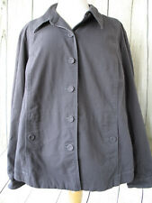Eileen Fisher Black (Gray) Organic Cotton Button Front Jacket Size 1X