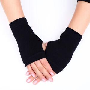 1 Pair  Fingerless Arm Warm Winter Gloves Hand Long Warmer Mittens Q