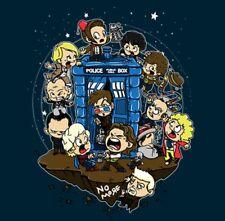 Doctor Who Baby Kid Children Doctors with Tardis Mash-Up Custom Sci-Fi Shirt LG