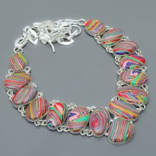 """Rainbow Calsilica 925 Sterling Silver Jewelry Handmade Necklace 17.99"""" M1423"""