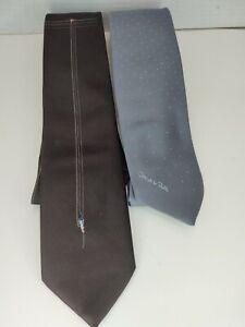 Lot Of 2 Oscar De La Renta Men's Neck Tie
