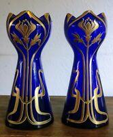 Montjoye/Legras - Vase Art Nouveau émaillé et rehaussé à l'or - Vers 1900