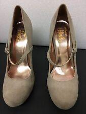 Barratts  Beige Suede Mary Jane stiletto heels *size 7* New