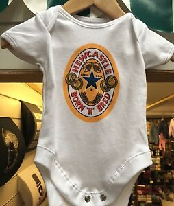 Funny Baby Grow, Newcastle themed, Newcastle Brown Ale inspired, Born and Bred