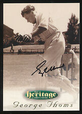 1996 Futera George Thoms Signature Heritage Collection Cricket Card no.19