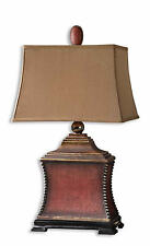 "Pavia Red Woven Textured Table Lamp 33""H by Uttermost 26326"