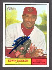 2010 HERITAGE #205  Edwin Jackson ARIZONA DIAMONDBACKS SIGNED AUTOGRAPH AUTO COA