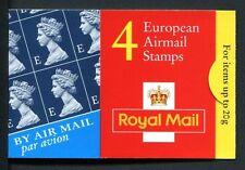 """Hf1 1999 4 X """"e"""" Europea posta aerea francobolli Cyl LIBRETTO w1-COMPLETO"""
