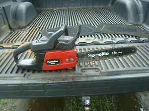 """Good Condition Homelite Bandit 33cc Chain Saw With 14"""" Bar & Chain"""