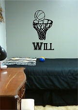 Basketball Goal & Name Sports Wall Sticker Vinyl Decal Stickers