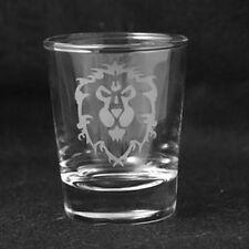 World of Warcraft WOW Alliance Symbol Custom Etched Shot Glass