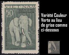 VIETNAM du NORD 218** VARIETE Vert au lieu de gris 1961 Vietnam 150 ERROR COLOR