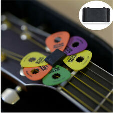 Useful 1PC Black Guitar HeadStock Pick Holder Rubber + 2Pcs Mixed Guitar Picks