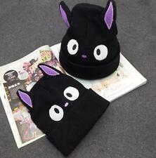 Kawaii Cat Ear Knit Cap Studio Ghibli Kiki's Delivery Service COS Hat Adult Kids