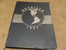 """REVEILLE"" 1937 Commerce High School Yearbook - Detroit, Michigan"