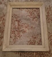 "c.1950's modernist picture frame fit 12 x 16"" painting White rustic look"