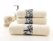 1pcs Adults 100% Bamboo Fiber Bath Towels Wash Cloth size 70x140cm blue