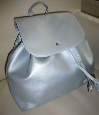 ❤️ Damen Tasche Handtasche Umhängetasche Rucksack Abend Freizeit Silber NEU ❤️