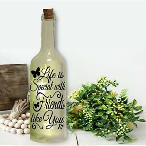 Bottle Sticker - Life is Special with Friends like You - Wine Bottle Sticker