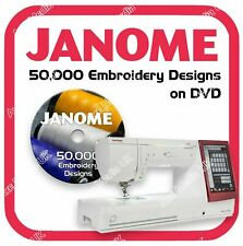 50,000 Janome, New Home Embroidery design files JEF on DVD