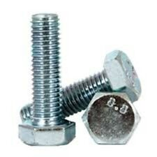 M4 X 25 mm Hex Cap Screw (10 pc) Zinc Finish Full Thread Class 8.8  4 mm x 25 mm