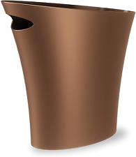 Umbra Skinny Sleek & Stylish Bathroom Trash, Small Garbage Can Wastebasket fo.
