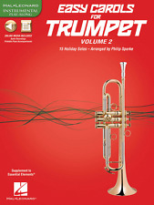 """EASY CAROLS FOR TRUMPET"" INSTRUMENTAL PLAY-ALONG VOLUME 2 MUSIC BOOK/AUDIO-NEW!"