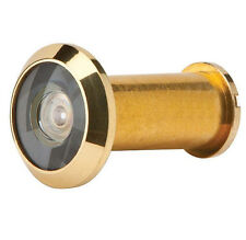 DOOR VIEWER /  PEEP HOLE BRIGHT BRASS COLOUR 1 X 1PCE WIDE ANGLE 170 DEGREE VIEW
