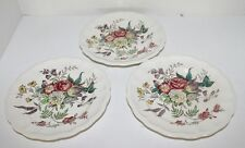 3 Antique HP Copeland Spode Gainsborough Porcelain Lunch/Salad Plates 7.75""