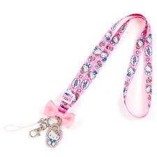 Sanrio Hello Kitty Neck Strap Lanyard Key Chain Holder Dot Kawaii Japan F/S