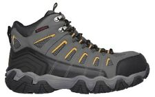 77054 SKECHERS Work Mens Blais Bixford Dark Gray DKGY Nubuck/Mesh Boot