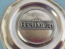 """Hotel Du Cap Small Candy Dish Plate Ashtray 5.5 """" Inches Vintage Raised Letters"""